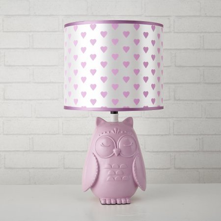 KIDS OWL WITH HEARTS LAMP ()