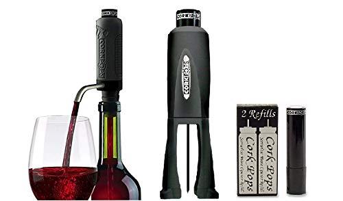 Cork Pops Legacy Wine Bottle Opener & Vinostream Wine Aerator/Dispenser with 5 Refill Cartridges 13238 by Cork Pops (Image #1)