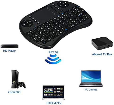 2.4GHz Wireless Mini Keyboard English Multi-Media Remote Control Touchpad for Android TV Box 2 Colors Compact Size