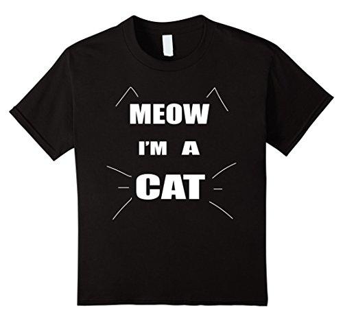 Kids Meow I'm A Cat Halloween Costume T Shirt 8 Black - Black Cat Costume Diy