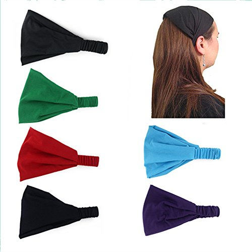 Yeshan Stretchy Multi function Headbands Workouts 6Pcs