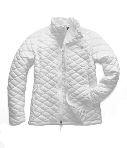 Round Collar Womens Coat - The North Face Women's Thermoball Jacket, TNF White Matte, Small