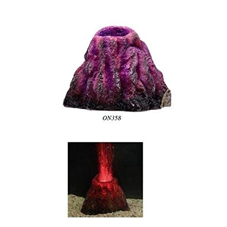 Classica Acuario erupting Volcano Bubbling Ornamento Tanque de peces luz LED airstone Burbujas Aire: Amazon.es: Productos para mascotas