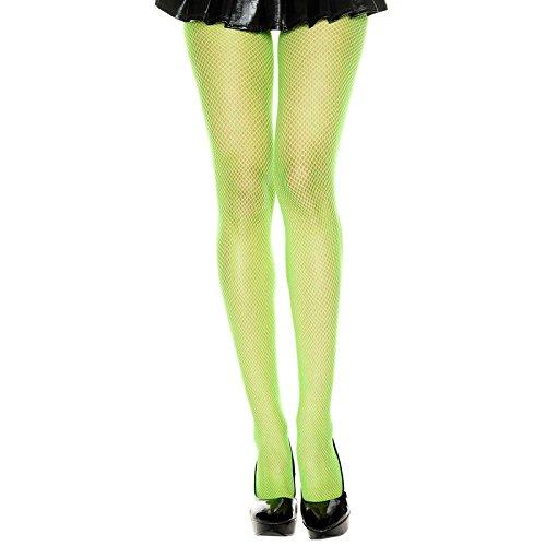 Seamless Fishnet Pantyhose Neon Green (Fishnet Green Neon)