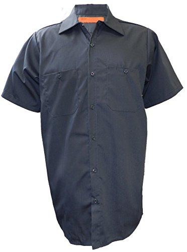 Solar 1ropa industrial de manga corta trabajo camisa, MS24, Carbón