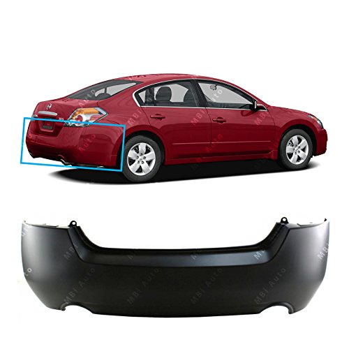MBI AUTO – Primered, Rear Bumper Cover for 2007 2008 2009 2010 2011 2012 Nissan Altima Sedan & Hybrid 07-12, NI1100248