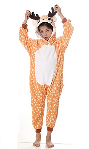 yolsun Deer Onesie Pajamas, Kids Cute Animal Costume Cosplay]()