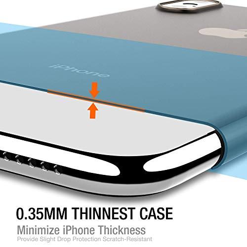 TOZO iPhone XS ケース PP [0.35mm] 超軽量 超薄型 半透明 ハードケース マット質感 [ブラック]
