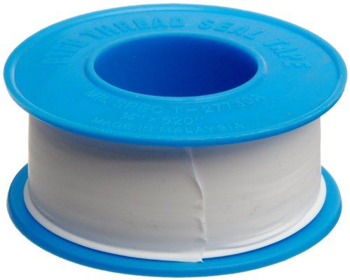 Dixon Valve TTB75 PTFE Industrial Sealant Tape -212 to 500 Degree F Temperature Range 3.5mil Thick 520 Length 34 Width White