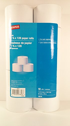 Single-ply Bond Paper Roll, 1.75 Inches (44mm) X 128 Feet (39m)