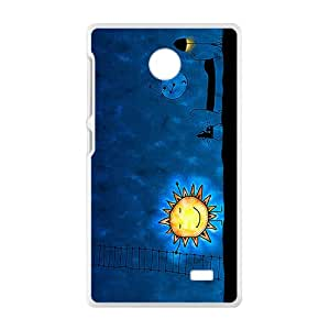 Cute Night Sun Brand New And Custom Hard Case Cover Protector For Nokia Lumia X
