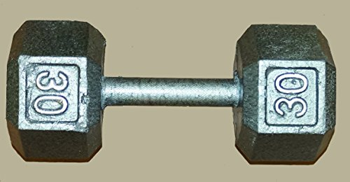 TDS Hex Dumbell - 30 lb sold as single by New York Barbells