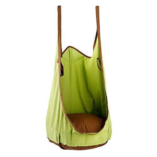 Hangout Happy Gym - HAPPY PIE PLAY&ADVENTURE Frog Folding Hanging Pod Swing Seat Indoor and Outdoor Hammock for Children to Adult (Green)