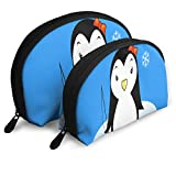 Makeup Bag Penguin Go Fishing Portable Shell Pouch For Mother Christmas Gift 2 Pack