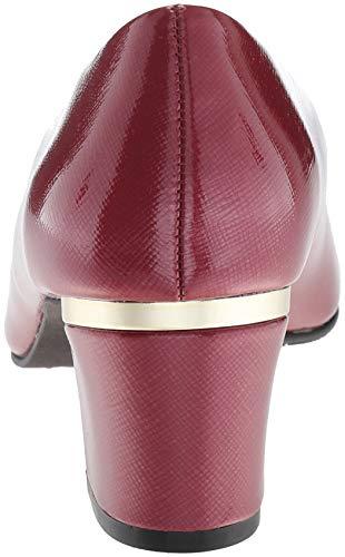 Style Tibetan Deanna Red Women's Soft Patent Crosshatch Pump 6nxdSSqwU