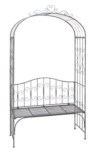 Deco 79 41394 Metal Garden Arch With Bench 45 By 88 Inch