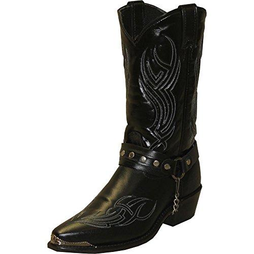 Abilene Men's Sage by Studded Harness Boot Black 11 D(M) - Boots Abilene Sage