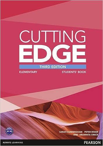 Cutting Edge 3rd Edition Elementary Students Book for DVD Pack: Amazon.es: Crace, Araminta, Cunningham, Sarah, Moor, Peter: Libros en idiomas extranjeros
