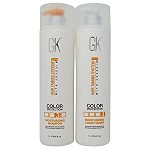 GK Global Keratin Hair Color Protection Moisturizing Shampoo and Conditioner, 33.8 Ounce