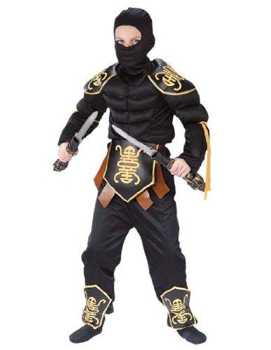 [Ninja Warrior Muscle Child Costume - Large] (Muscle Ninja Warrior Costume)