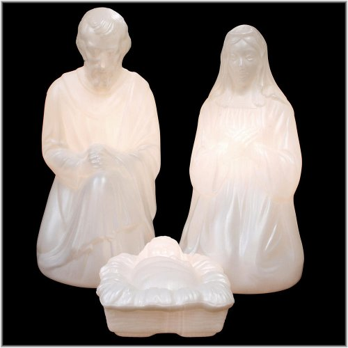 Outdoor Lighted Plastic Nativity in US - 6