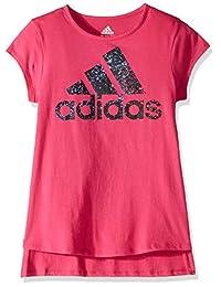 adidas Kids - Camiseta para mujer con dobladillo curvado (niños grandes)