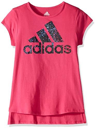 adidas Girl Big Short Sleeve Graphic Tee T-Shirt,