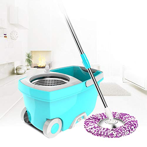 - New Upgraded Stainless Steel Microfiber 360 Rotating Mop and Bucket Floor Clean Included 1× mop Bucket, 1× mop, 1× Microfiber mop Head.