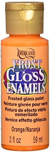 DecoArt Americana Frost Gloss Enamel Paint, 2-Ounce, Orange