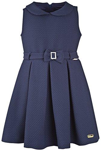 Lilax Little Girls' Sleeveless Solid Pleated Summer Occasion Toddler Dress 5T Navy (School Girl Fancy Dress Ideas)