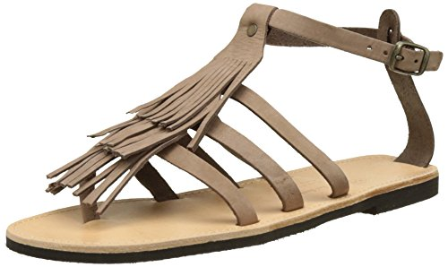 THELUTO Ouvert Virginie Marron Capuccino Femme Bout Sandales rZPqwxr