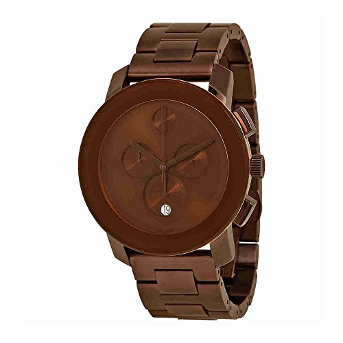 Bold Chronograph Brown Dial Brown Tone Ion Plated Stainless Steel