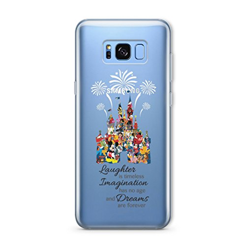 SmartGiftShop Cartoon Character Disney Fan Art Clear TPU Phone Cover Case for iPhone & Samsung Samsung Galaxy S5 / Disney Castle Quote