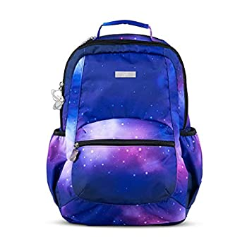 Image of JuJuBe Galaxy Backpack, Be Packed | Travel-Friendly Carry On with Laptop Pocket, Outer Space Compact Stylish Backpack Purse, Adjustable Straps, For Kids and Adults Baby