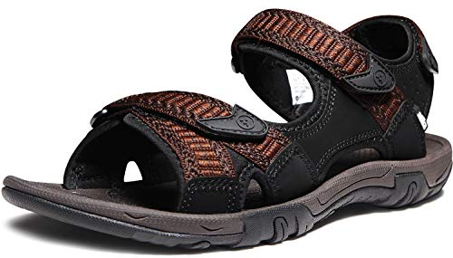 ATIKA Men's Sport Sandals Maya Trail Outdoor Water Shoes, Havana(m113) - Dark Brown, 8