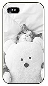 For SamSung Note 3 Case Cover Nap time - black plastic case / Cats, Cat