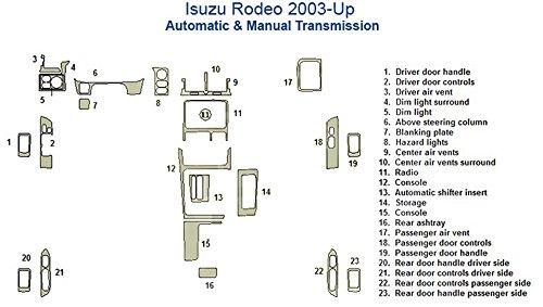 (Isuzu Rodeo Full Dash Trim Kit - Walnut Burlwood)