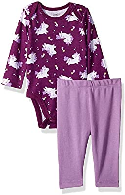 Hanes Ultimate Baby Flexy 2 Piece Set Pant with Long Sleeve Bodysuit