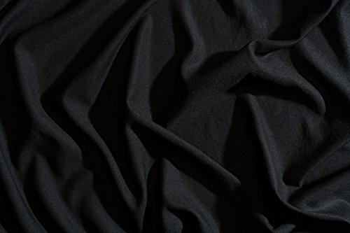 Night Sweats: The Original PeachSkinSheets 1500tc Soft KING PILLOWCASE Set MIDNIGHT BLACK