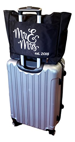 Large Black Organizing Travel Companion Purse Handbag Bag (No Embroidery - Black) by Sona G Designs (Image #6)