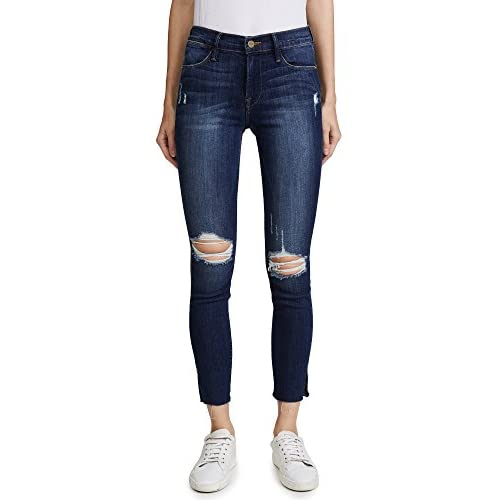 FRAME Women's Le High Skinny Jean with Raw Edge Slit Rivet for sale