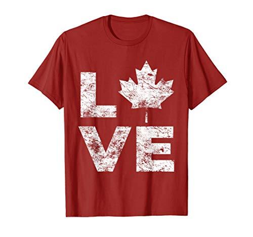 Canada Flag Love Vintage Canada Day Maple Leaf ()