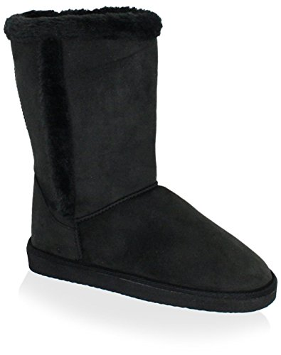 C LABEL Womens Casual Boot Black YxlTK2