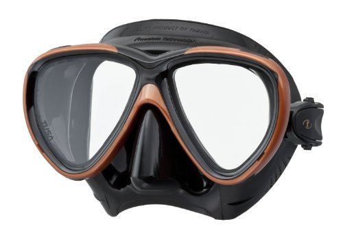 Tusa M-211 Black Freedom One Scuba Diving and Snorkeling Mask - Bronze/Black by Tusa by Tusa