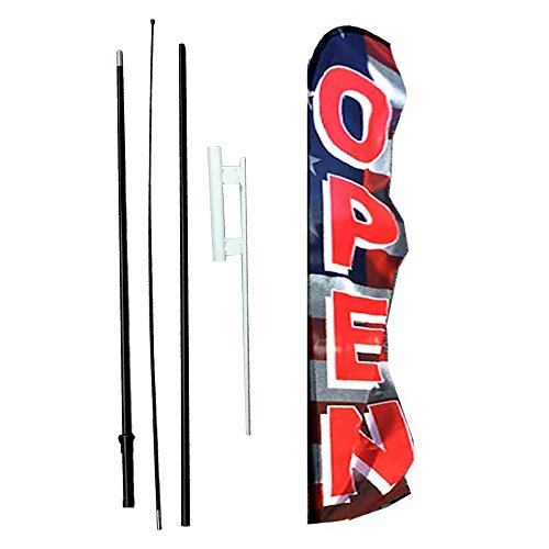 IRIS Swooper Flag with Ground Spike Kit & Swooper Pole Kit perfect Open (15