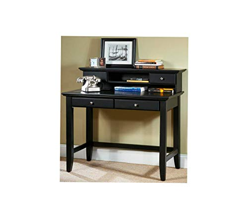 Office Home Furniture Premium Bedford Student Desk and Hutch, Black