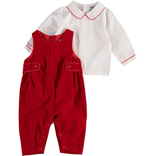 Carriage Boutique Boys Red Velvet 2 Pc. Long