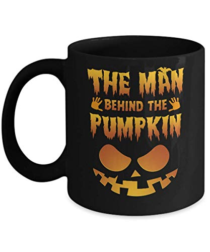 TeesPass The Man Behind The Pumpkin Funny Pregnant Halloween Mug 11oz -