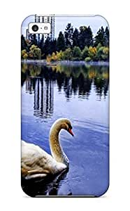 TYHde Excellent ipod Touch4 Case Tpu Cover Back Skin Protector Swan Wallpaper ending