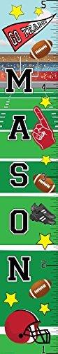 Mona Melisa Designs Customized Football Mason Growth Chart Decorative Wall Sticker [並行輸入品]   B0785NCJSZ